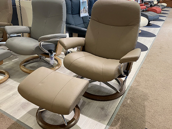 Stressless Garda Large Chair + Stool