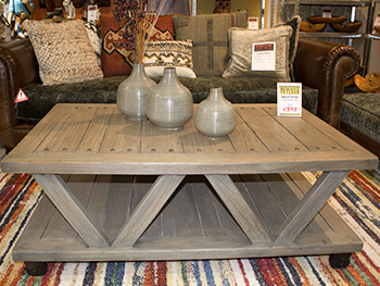 Industrial Look Two Tier Coffee Table