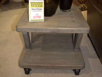 Industrial Look Two Tier Lamp Table